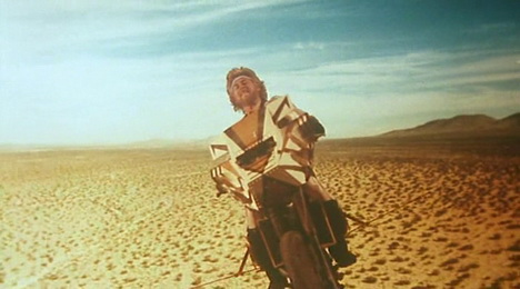 Megaforce (1982) - Barry Bostwick and his flying (?) motorcycle